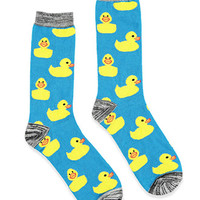 Duck Pattern Crew Socks