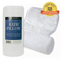 Luxury Bath Pillow for Bathtub with Ultimate Neck and Shoulder Support, Designed for Extreme Comfort, Non-Slip Suction Caps