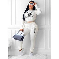 Balenciaga 2019 new letter print sports suit two-piece