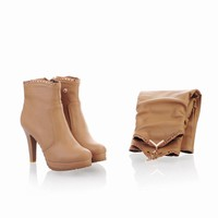 Sexy Removable Canister High Heeled Boots