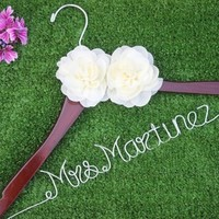 Two flower wedding hanger bridal hanger, personalized Bridal, Brides Hanger, Wedding Hanger, Personalized Bridal Gift.-in Event & Party Supplies from Home & Garden on Aliexpress.com | Alibaba Group