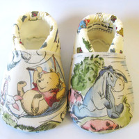 Little Piggies Baby Shoes- ON SALE: Choose your Own Character Gender Neutral Baby Shoes, Inspired by Pooh