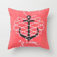 Je t'aime Throw Pillow by Andrei Robu | Society6