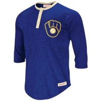 Mitchell & Ness MLB Fastball Henley - Men's at Champs Sports