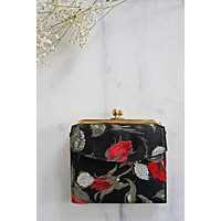 Vintage Rose Bud  Coin Purse