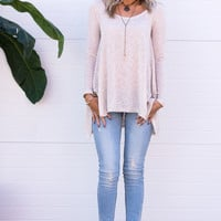 Yasmine Oatmeal Sheer Tunic