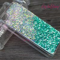 iphone 6 plus,Phone cover, iphone 6 case, Real Glitter Pink Green, Real glitter, iPhone 5s case,iPhone 5c case, Galaxy S5 case,Note3 case-03