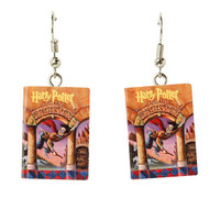Harry Potter And The Sorcerer's Stone Book Drop Earrings