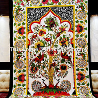 Tree of Life Cotton Hippy Bohemian Bedspread Wall Hanging Beach sheet Tapestry Twin Tree of Life Tapestry indian Wall Hanging Dorm Tapestry