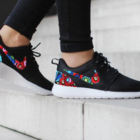 Nike Roshe Run One Black with Custom Color Floral Print