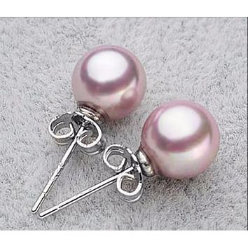 D69//17 Sterling Silver Ear Stud With Ball /& Butterfly Scroll 10mm 1 Pair