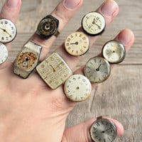 Steampunk Rings -- Vintage Clockwork Design -- Steampunk Jewelry, choose a ring for yourself, 1 of 12