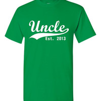 Uncle Established 2013 Customized With Your Date Awesome Gift For Brother Or New Uncle Unisex Sized to 5XL Uncle T Shirt
