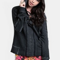 Femme Hooded Pullover By Black Sheep