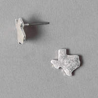 ROAD TRIP TEXAS STUDS IN SILVER