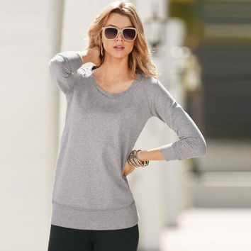 Loose Plain Causal T-Shirt B0013410