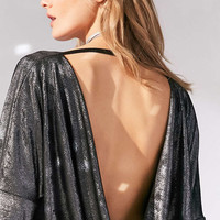Silence + Noise Kendra Shimmer Cowl-Back Dolman Top - Urban Outfitters