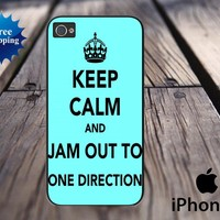 Keep Calm and Jam Out To One Direction iPhone 5 case - iPhone 5 hard case, iPhone 5 cover, iPhone hard case