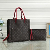 Louis Vuitton LV new trend presbyopia lattice tote bag large capacity two-piece shoulder bag
