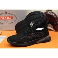 prada men fashion boots fashionable casual leather breathable sneakers running shoes 75