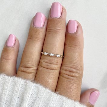 Together In Harmony Crystal Midi Ring