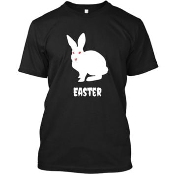Evil Easter Bunny Rabbit Anti Holiday Pastel Goth Shirt Top Custom Ultra Cotton
