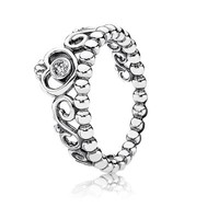 PANDORA | Abstract Elegance Ring, Clear CZ