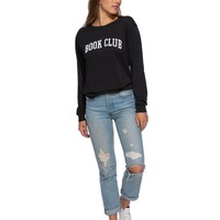 Book Club Long Sleeve Black Tee