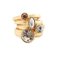 Stackable Rhinestone Ring Set: Charlotte Russe
