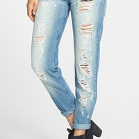 Junior Women's STS Blue 'Joey' Destroyed Boyfriend Jeans