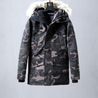 Moncler down jacket plus cotton Fashion men's jacket / camouflage
