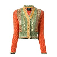 "Jean Paul Gaultier 1989 ""Around the World in 168 Outfits"" lace panel cardigan"