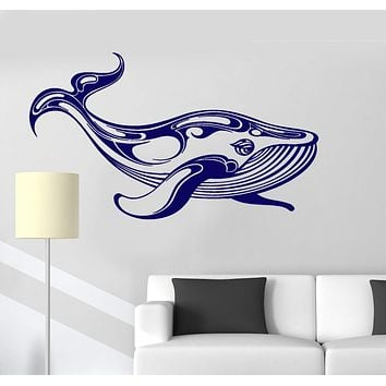 Vinyl Wall Decal Whale Marine Animals Ocean Room Art Stickers Unique Gift (ig3567)
