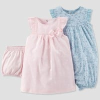 Baby Girls' 2pk Romper and Dress Set - Just One You® made by carter's Pink