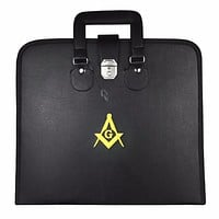 Masonic MM/WM and Provincial Full Dress Apron Yellow Square Compass Cases