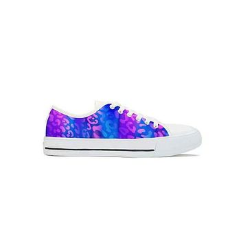 Electric Leopard - Low Top Canvas Shoes