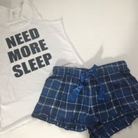 Need More Sleep - Pajama Set - Ruffles with Love - RWL - Love - Pajamas