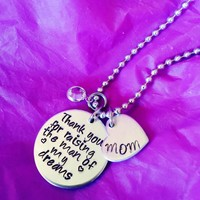 Mother of the Bride gift, Mother of the groom Gift Necklace or Keychain. Wedding Gift. Thank you for raising the man/woman of my dreams