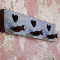 fair trade rustic heart hook by nkuku