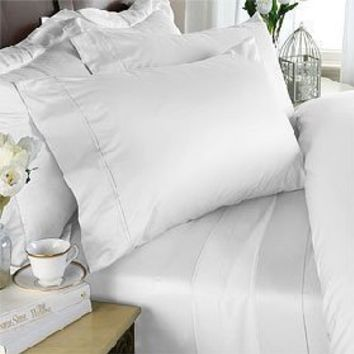 Striped Ivory 300 Thread Count Twin Duvet Cover Set 100 % Egyptian Cotton with matching pillow sham By sheetsnthings