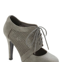 All Out on the Town Heel in Grey | Mod Retro Vintage Heels | ModCloth.com