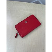 Coach Red Small Leather Wallet