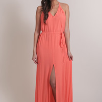Catherine Coral Maxi Dress