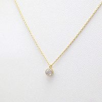Tiny, Cubic, Gold, Silver, Necklace, Modern, Beautiful, Necklace, Lovers, Friends, Mom, Sister, Christmas, New year, Gift