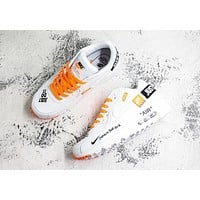 Nike Air Max 90 x Off-White White Orange Running Shoes