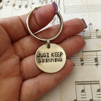 Just Keep Swimming - Finding Nemo Keychain