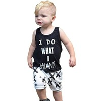 Baby Boy Clothes 2017 Brand Summer Kids Clothes Sets Letter T-shirt+Pants Suit Clothing Set Clothes Newborn Suits LH7s