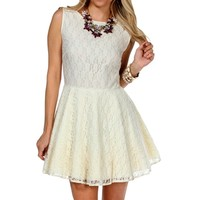 Pre-Order: Ivory Lace Sleeveless Party Dress