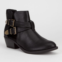 Soda Autry Womens Boots Black  In Sizes