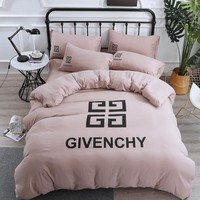Soft Cotton GIVENCHY Bedding Blanket Quilt Coverlet Pillow shams 4 PC Bedding Set